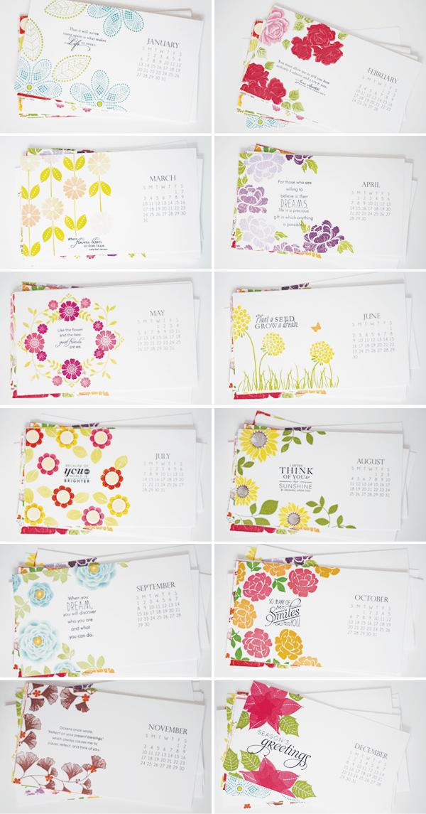 Year of Florals Landscape Calendar