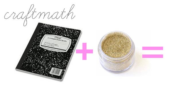 Craft-Math-Glitter Composition Book