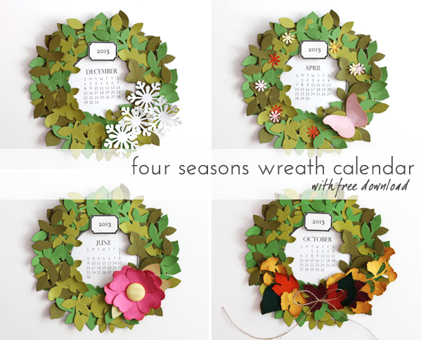 DIY Year-round Wreath Calendar