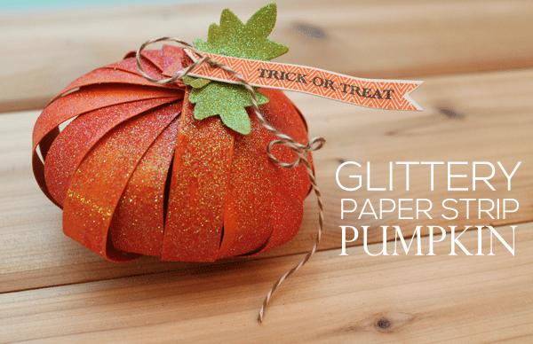 Seasonal Inspiration: DIY Glitter Strip Pumpkins
