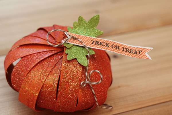 DIY Glitter Pumpkin Treat Container