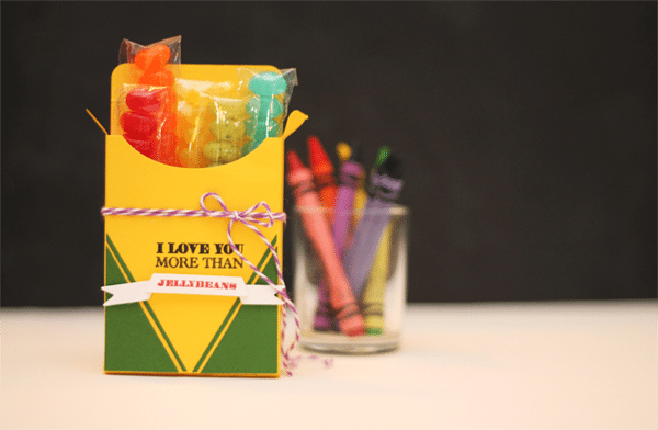 Crayon Box Jelly Bean Favor Box