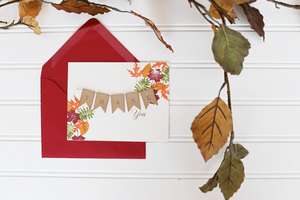 Clear and Simple Stamps Fall Leaflets Card Overhead