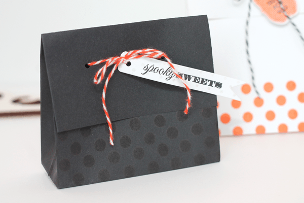 Black Envelope Treat Bag