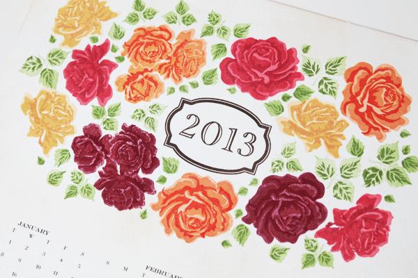 Vintage Rose Calendar
