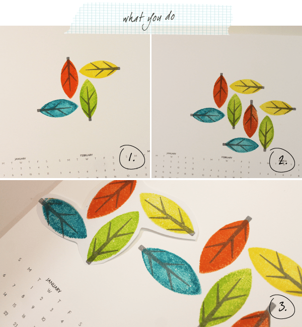 What you Do Modern Leaf Pattern Calendar