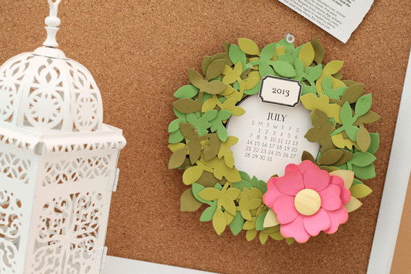 Wreath Calendar Close up