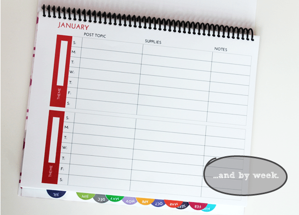 Blog Editorial Calendar Pages Weekly