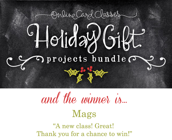 Holiday Gift Projects Bundle Winner