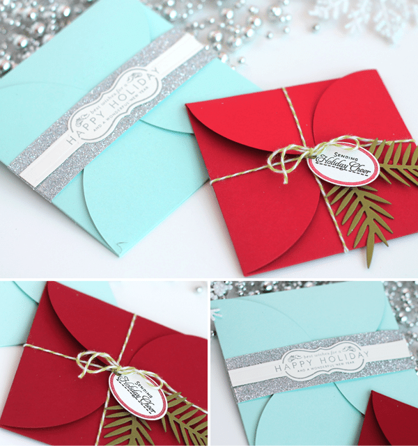 DIY Holiday Christmas Petal Cards