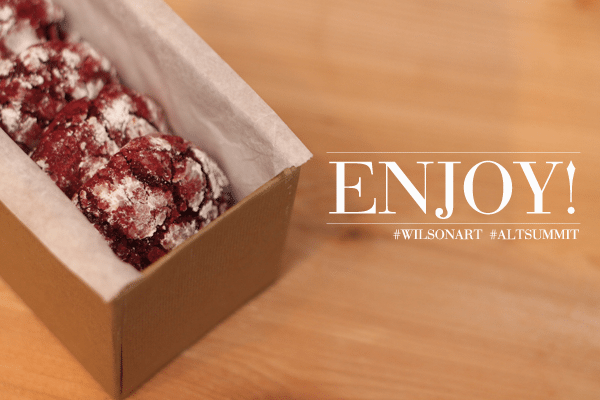 Red Velvet Crinkle Cookies End