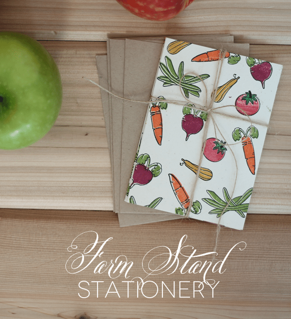 Stamped Farm Stand Stationery