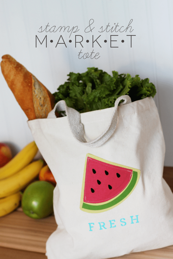 DIY Stamp & Stitch Market Tote