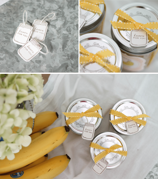 Mason Jar Favor Tags and Packaging