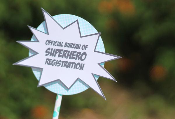 Super Hero Registrationsign