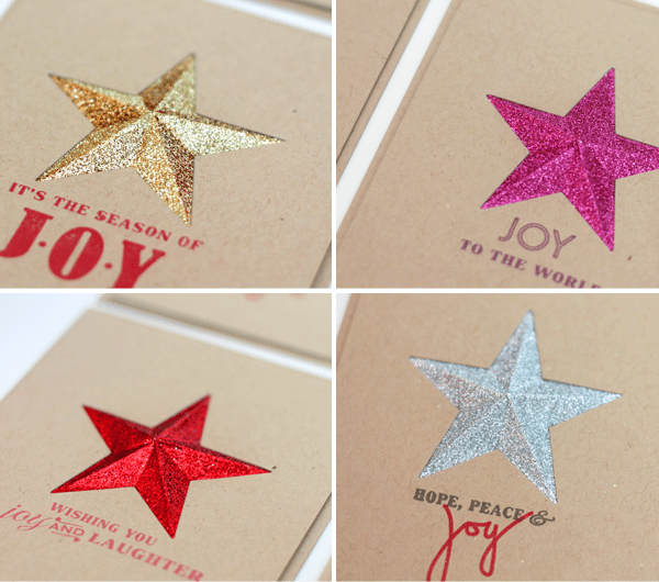Set of Four Faceted Star Stationery