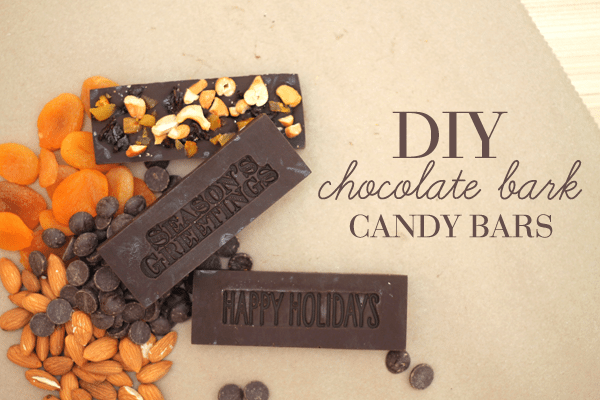 DIY Chocolate Bark Candy Bars Header