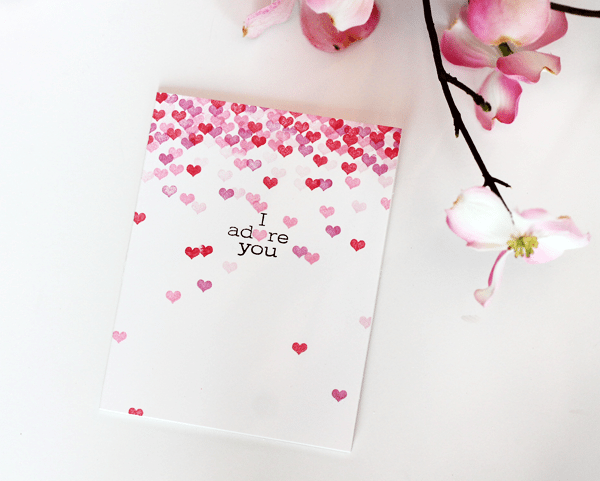 Avery Elle Lots of Love Card | Damask Love Blog