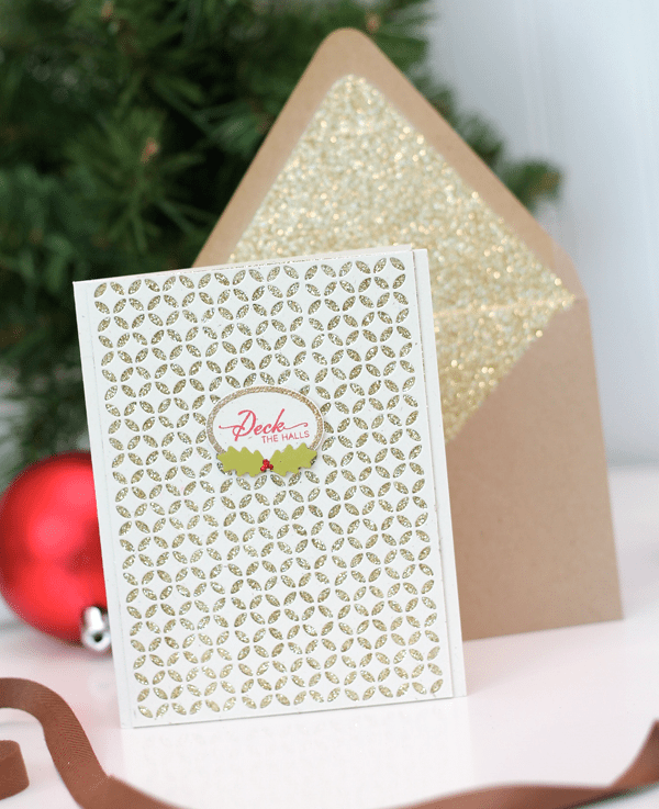 Piestra Tile Die Card with Glitter Lined Envelope