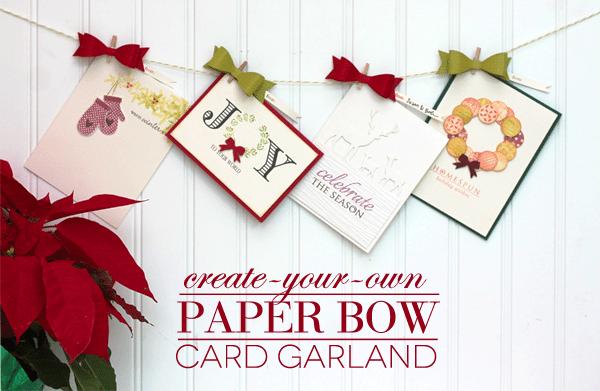 DIY Paper Bow Card Garland