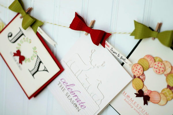 Create Your Own Paper Bow Card Garland Close