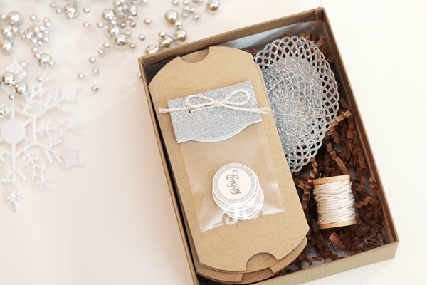 Glitter Twine Bow Gift Packaging Box