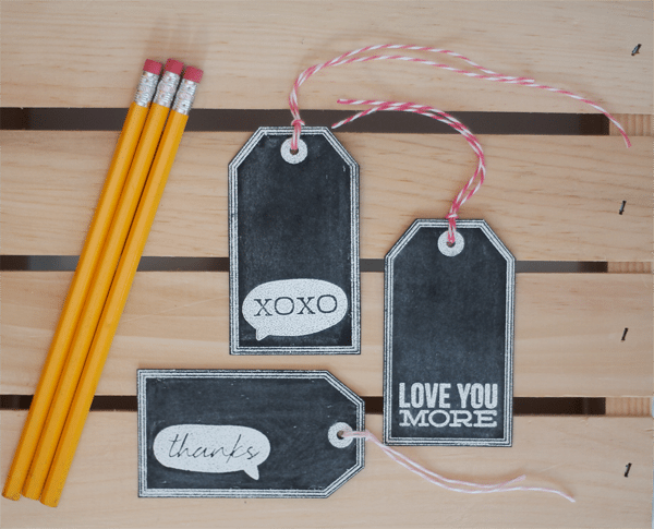 Chalkboard Tags Header