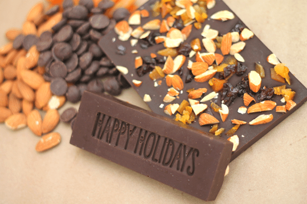 DIY Candy Bar Happy Holidays Close