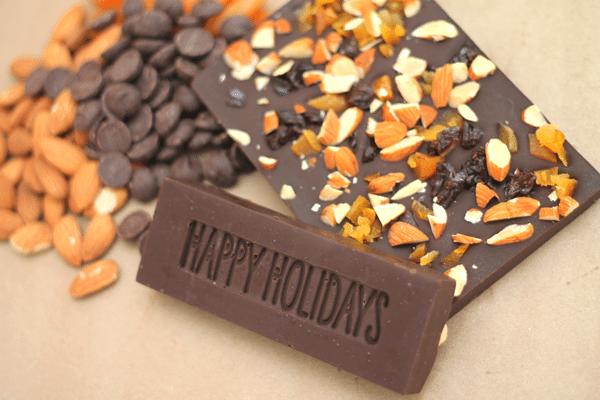 DIY Candy Bar Happy Holidays Close