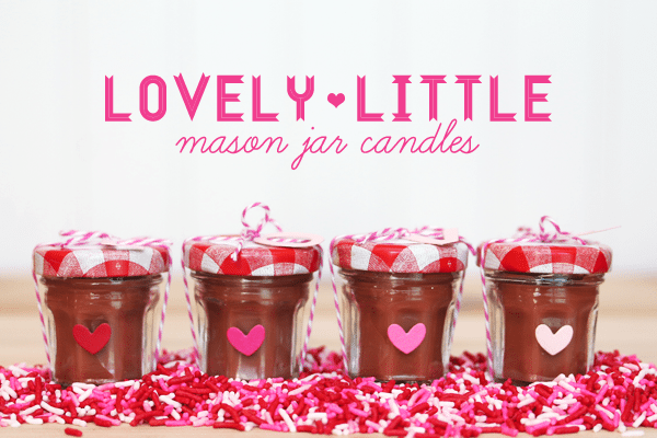 Style Watch Mini Mason Jar Candles Damask Love