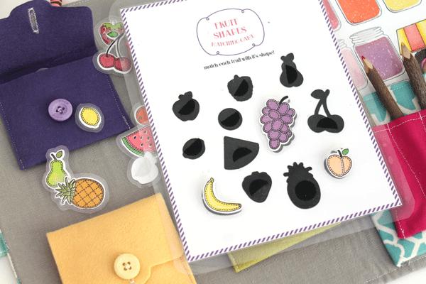 Busy Book Fruit Worksheet