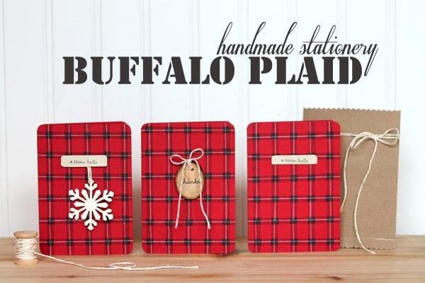 Buffalo Plaid Stamped Stationery