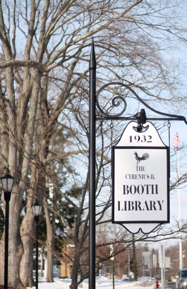 CH Booth Library in Newtown CT