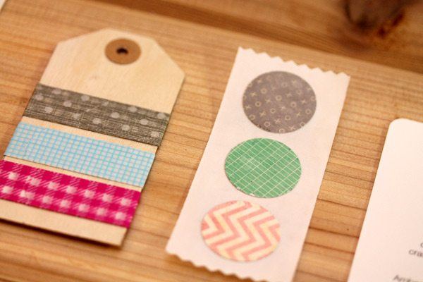 Wooden Washi Tag and Circle Stickers