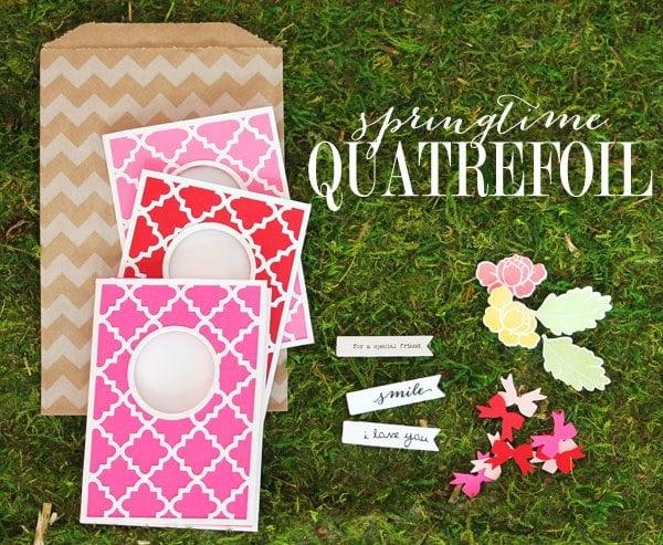 CASE-Study: Springtime Quatrefoil Stationery
