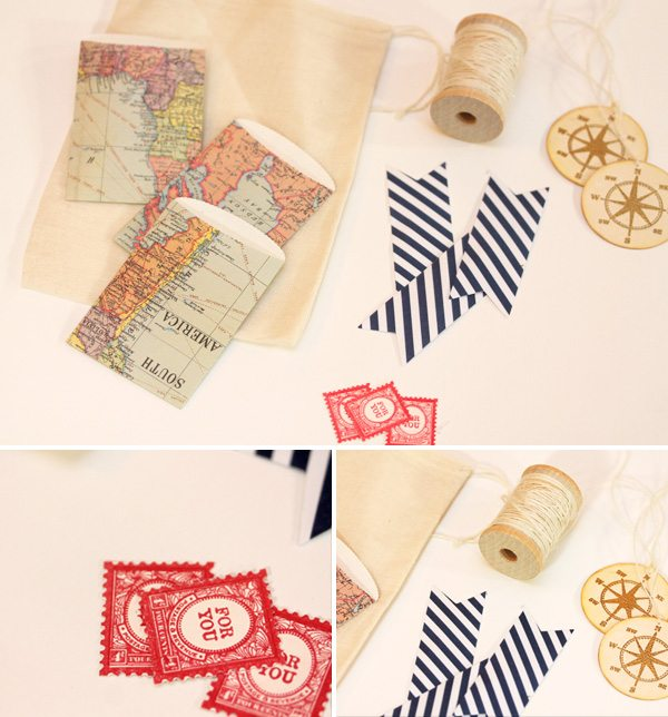 Map Inspired Stationery Bags Storyboard
