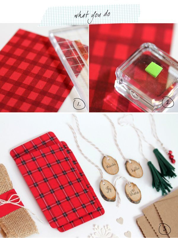 What you Do Buffalo Plaid Stationery