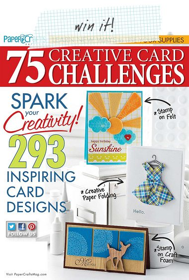 Win an issue of Paper Crafts Magazine 75 Creative Card Challenges
