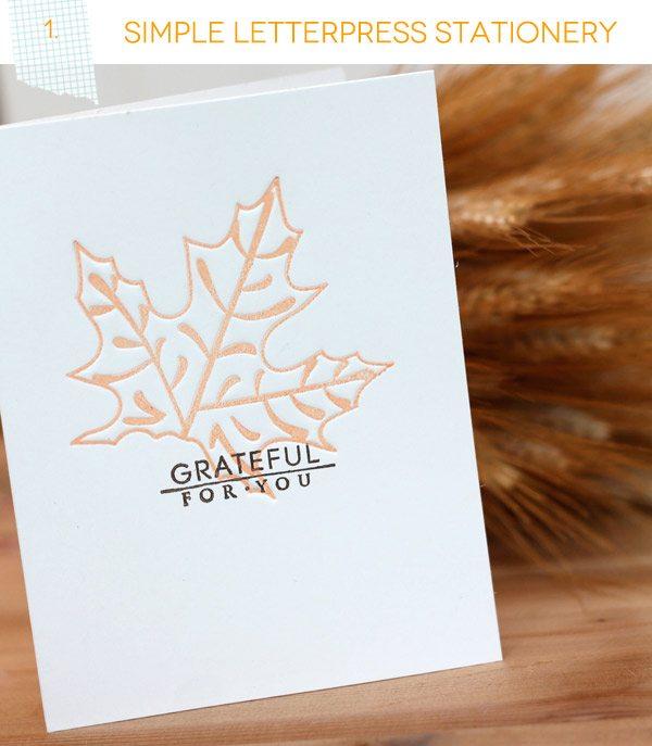 Simple Letterpress Card