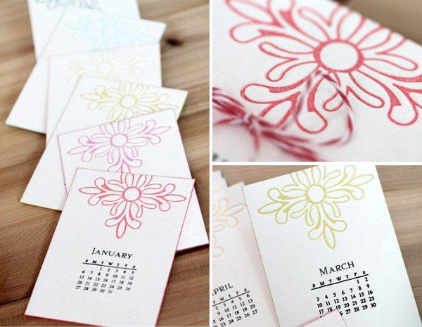 Bold & Bright Calendar Set Letterpress