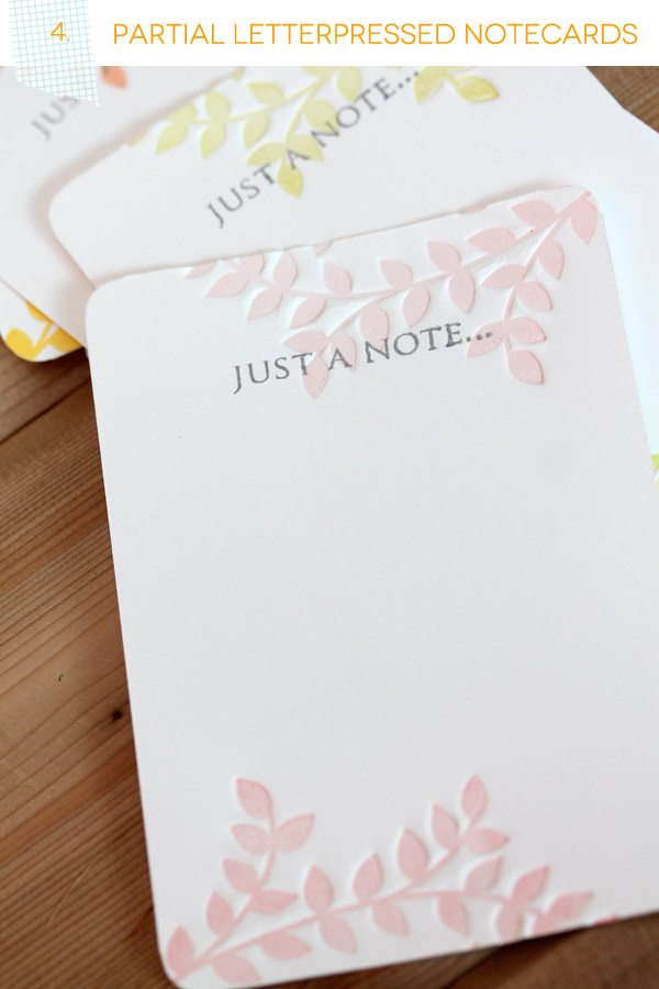 Partial Letterpress Notecards Set Header