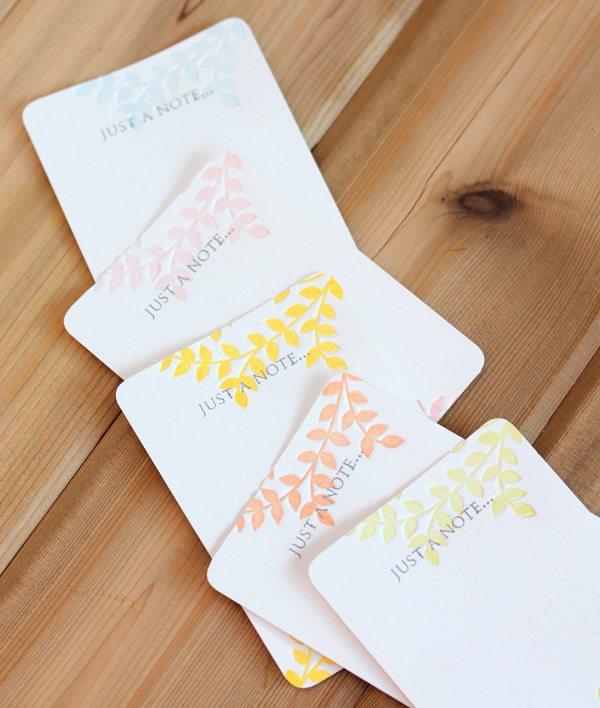 Partial Letterpress Notecards Set