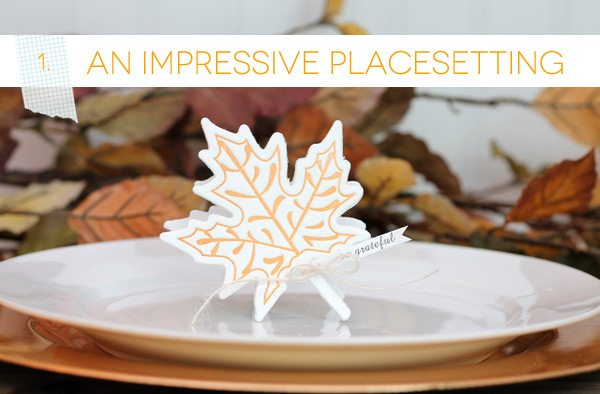 Autumn Letterpress Placesetting | Damask Love Blog