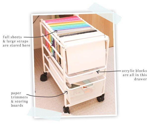 Craftroom Storage Solution for Cardstock