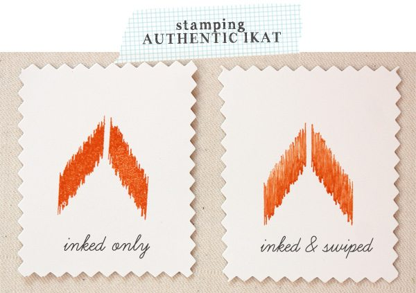 Stamping Authentic Looking Ikat | Damask Love Blog