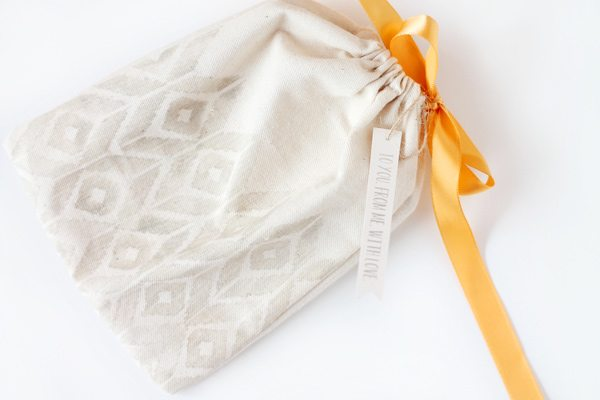 Fabric Front Cards Bag: Stamped Ikat |  Damask Love Blog
