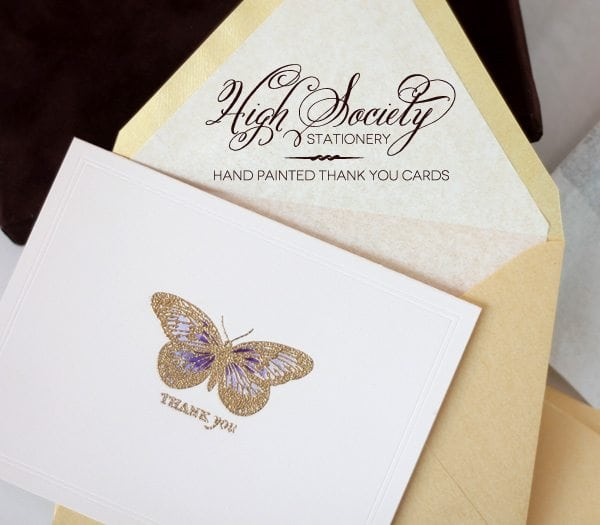 High Society Stationery: Hand Painted Cards