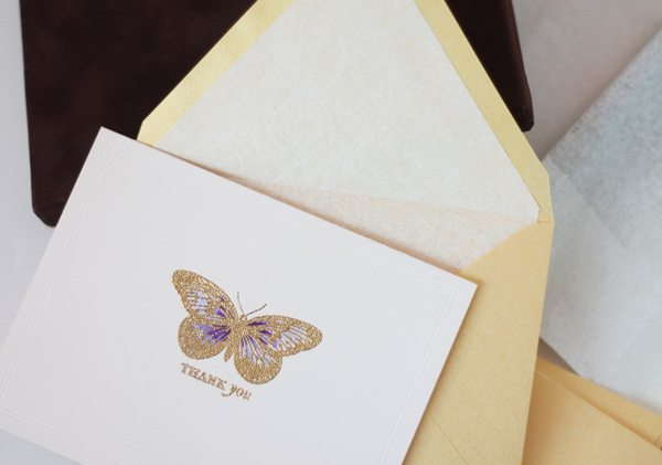 High Society Stationery DIY Butterfly Card and Envelope | Damask Love Blog