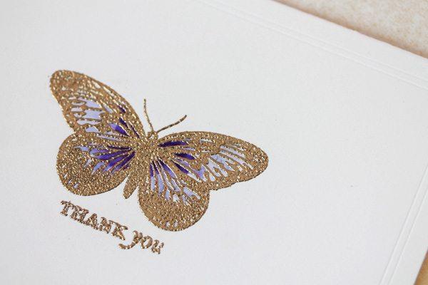 High Society Stationery DIY Butterfly Card Close | Damask Love Blog