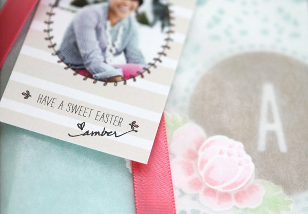 Springtime Monogram Stationery Tag Close | Damask Love Blog